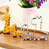 GXHUANG Animal Giraffe Family Cookie Cutter- Stainless Steel (Giraffe), for Anniversary Birthday Wedding Theme Party