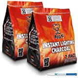 The Chemical Hut 4 Pack (X4, 1KG bags) of Instant Light The Bag BBQ Charcoal for Stoves BBQs Burner - Comes Anti-Bacterial Pen!…