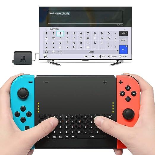 Teclado Inalámbrico para Nintendo Switch, The perseids Teclado de Juego Inalámbrico, Cargador con 2.4