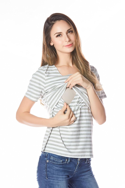 Bearsland Womens Breastfeeding and Nursing Tank Top and Cami Shirt