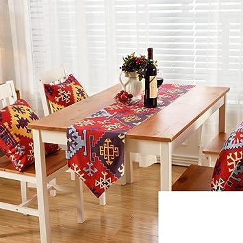 Gestreifte Gedruckten Tischlaufer Europaischen Stil Gartentisch