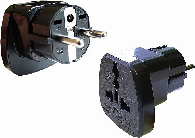 Adaptador de corriente con toma de tierra connettore dispositivos de Reino Unido Inglaterra GB Escocia conexión en Alemania/Europa: Amazon.es: Iluminación