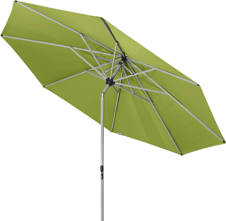 340 cm Doppler Active TELESKOP Innovativer Sonnenschirm ideal f/ür Terrasse und Garten ca Knickbar