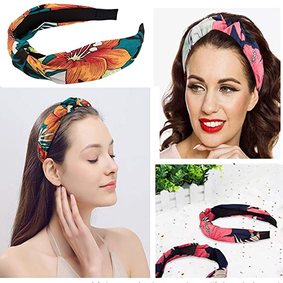 Details about  /Women/'s Tie Ear Headband Hairband Wide Knot Head Band Hair Hoop Accessories Lot