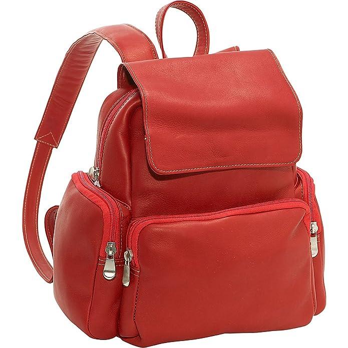 Amazon.com: Le Donne Leather Women's Multi Pocket Back Pack Purse, Black,  Medium