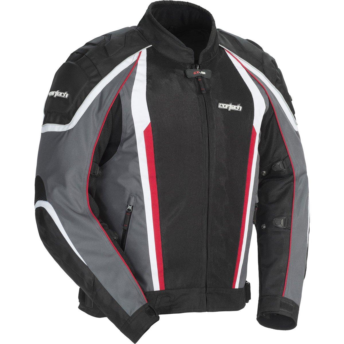 Cortech GX Sport Air 4.0 Adult Mesh Road Race Motorcycle Jacket - Gunmetal/Black / X-Large