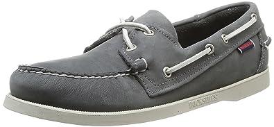 Chaussures Bateau Mens Docksides, Gris (fumée / Cuir Cireuse), 7,5 (uk 41,5 Eu) Sebago
