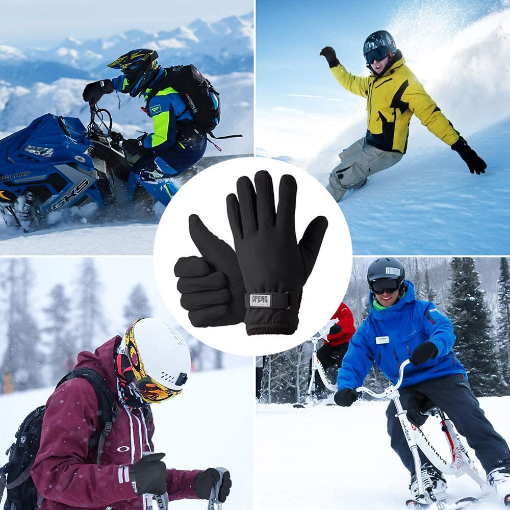 Anti Slip Touch Screen Gloves Full Finger Windproof Waterproof Warm Gloves for Men Women for Running Cycling Driving Snow Skiing Winter Gloves