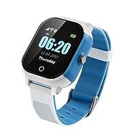 BINDEN Smartwatch Rastreador GPS FA23 Resistente el Agua IP67, Ideal para Niña o Niño, Seguimiento Minuto a Minuto con Geocerca y SOS, App Disponible para iOS y Android, Listo para Usarse (Azul)