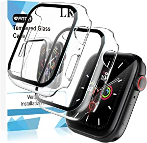 LK 2 Pack Tempered Glass Case Compatible With Apple Watch SE/Series 6/5 / 4 40mm, Model No. LK3356