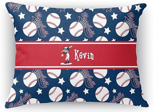 RNK Shops Baseball Rectangular Throw Pillow Case – 12 x18 Personalized