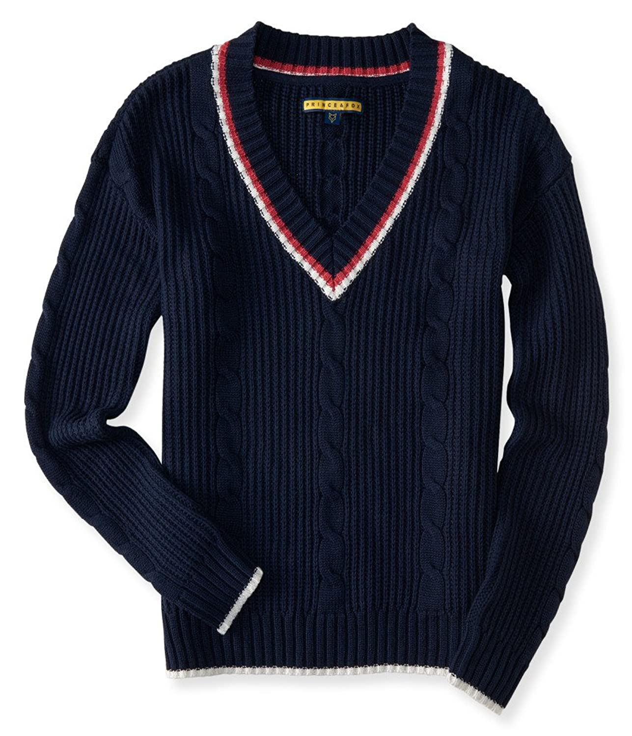 Vintage Sweaters – 1910s, 1920s, 1930s Pictures Aeropostale Womens Prince & Fox Varsity V-Neck Sweater $14.99 AT vintagedancer.com