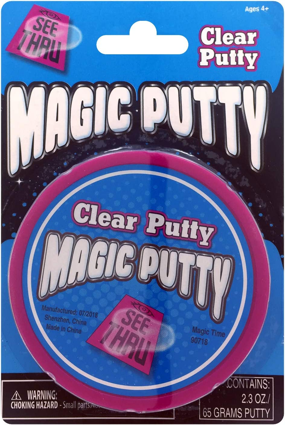 Color Change Putty /& Ameythst Fire Putty Magic time Interantional 5527436 3 Pack Magic Putty Clear Putty Multicolor