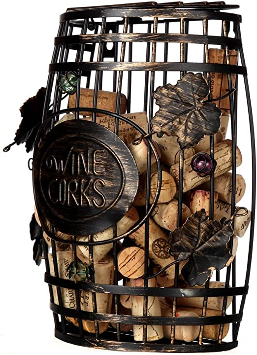 Amazon Com Home X Wall Mounted Metal Wine Cork Holder This Elegant Wine Barrel Shaped Wall Mount Is The Perfect Addition To Any Wine Connoisseurs Decor Collection Holds Over 50 Corks Home