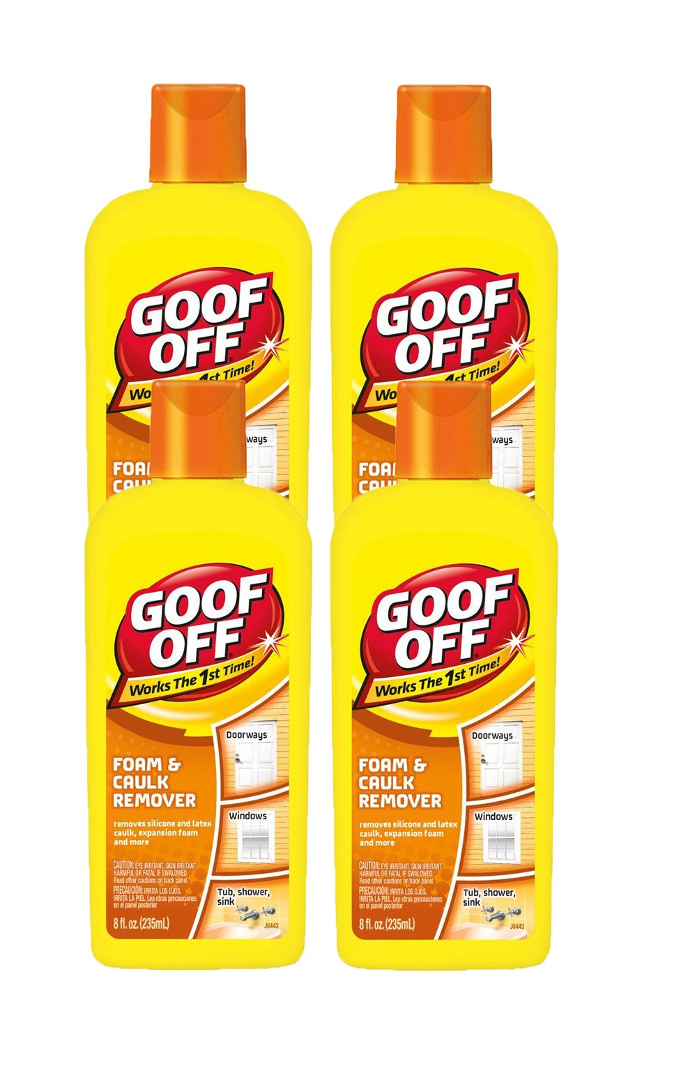 Goof Off Foam and Caulk Remover, 8-Ounce (4 Pack) by Goof Off