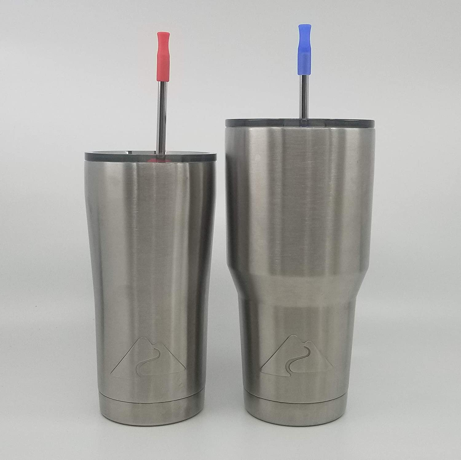 Custom Inscribed Stainless Steel Drinking Straws | Set of 2