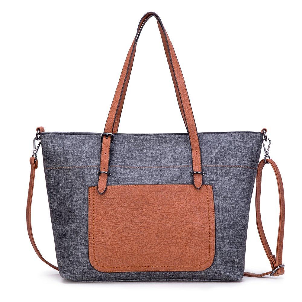 GLITZALL Women Shoulder Bag Fashion Handbag Girls Crossbody Bag(Black) by GLITZALL
