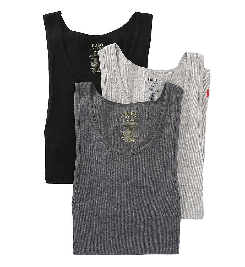 Polo Ralph Lauren 3-Pack Tank Top Andover/Madison/Black SM by Polo Ralph Lauren