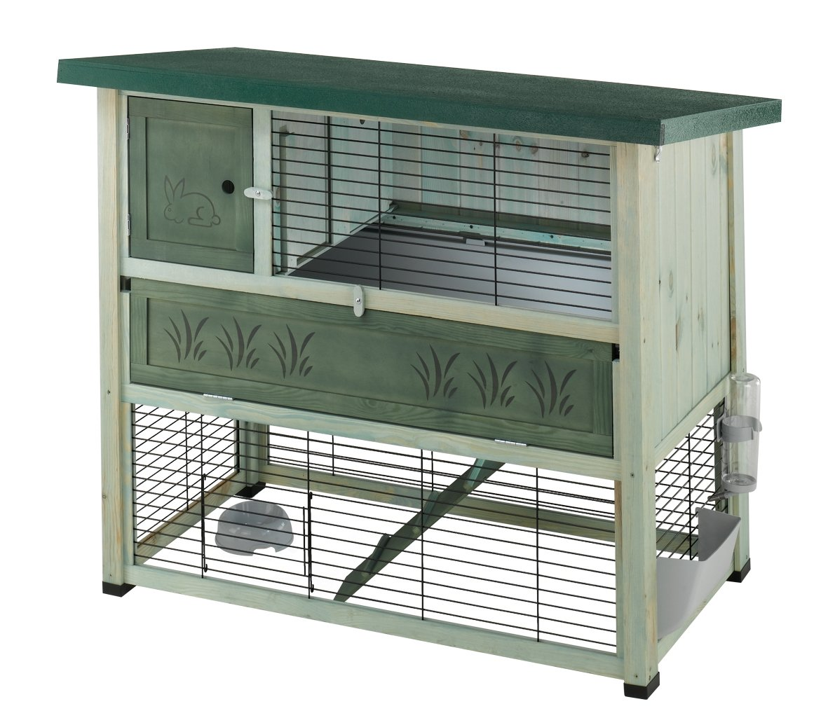 Ferplast Ranch 120 Plus Wooden 57091000 Rodent Cage, 46 x 69 x 101 cm