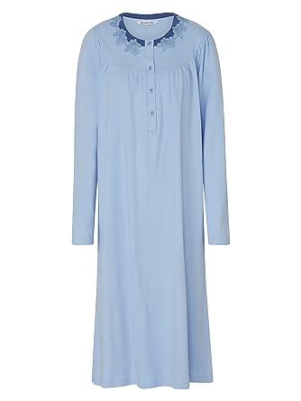 Slenderella 100% Egyptian Interlock Cotton Long Sleeve Nightdress (Medium 7d8a477be