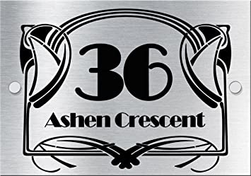 art deco style house number sign amazon co uk garden outdoors
