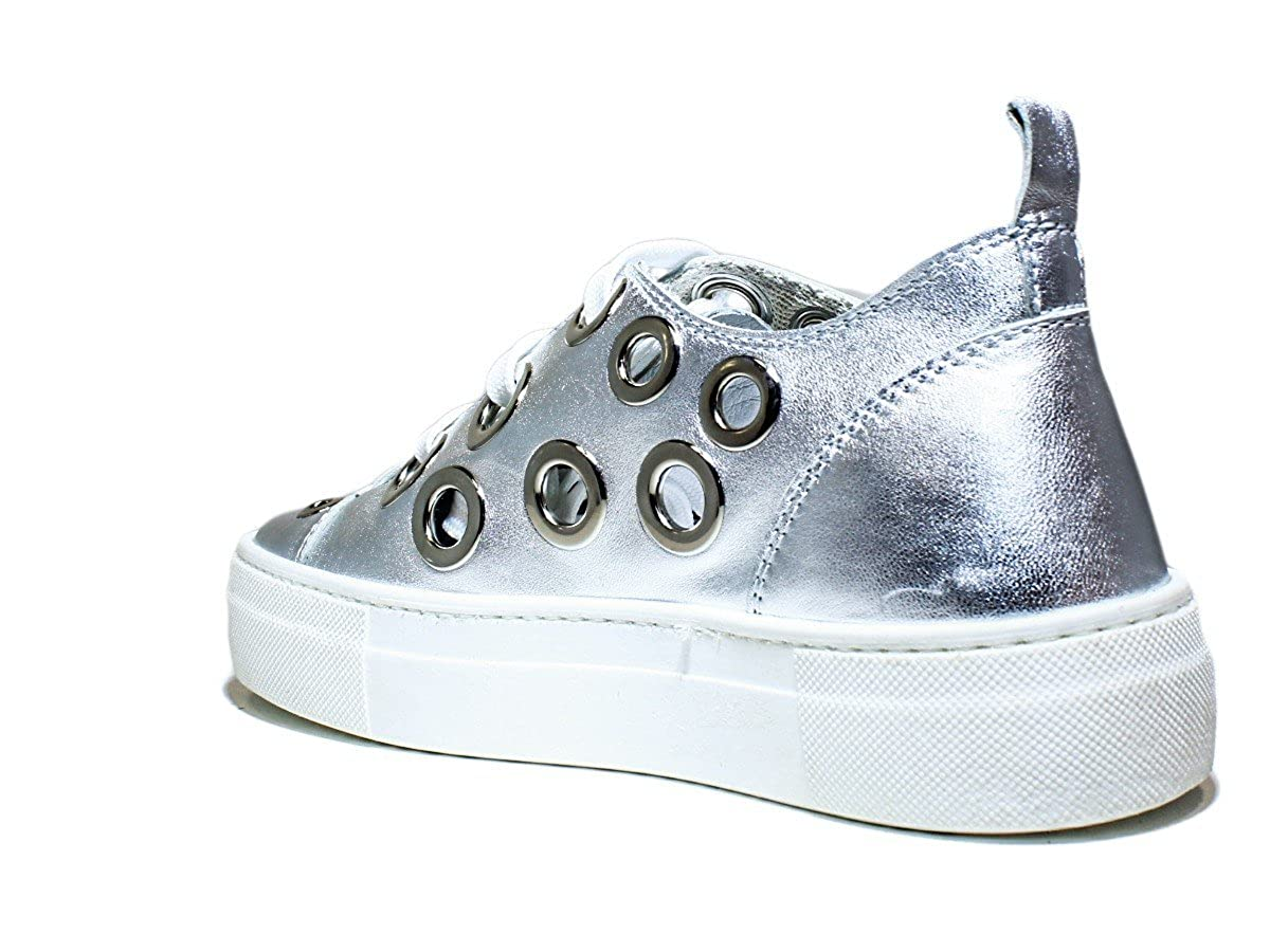 ccb8dc189b0 Spring Summer 2016 Leather Silver Laminate Women Shoes Ulrich Lang ANVERSP WL  06 Womens Shoes Sneakers Low Gymnastics