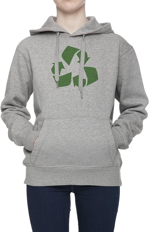 Reciclar Mujer Gris Sudadera con Capucha Saltador Camisa ...