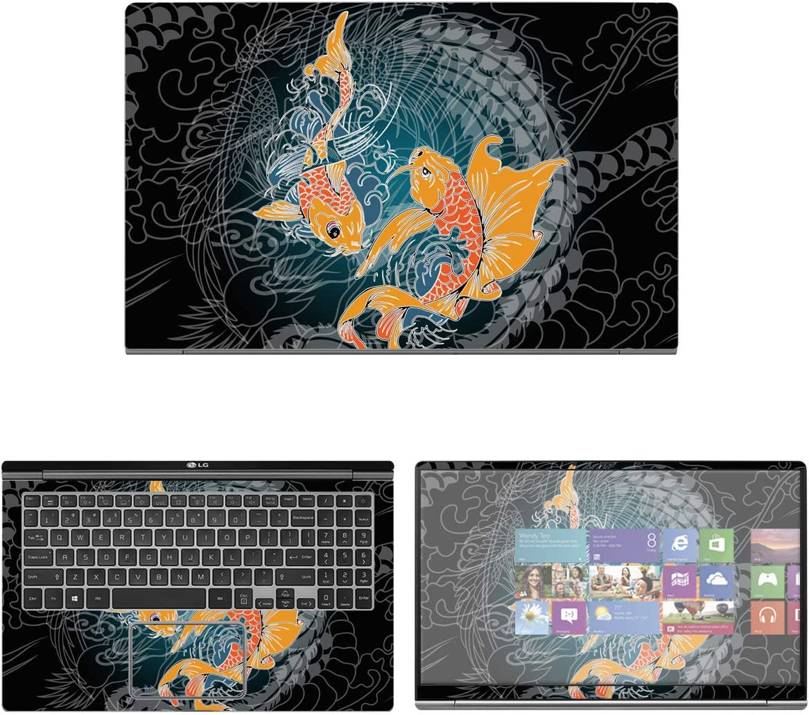 """Decalrus - Protective Decal Koi Fish Skin Sticker for LG Gram 15Z990 (15.6"""" Screen) case Cover wrap LGgram_15z990-42"""