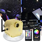 AMKI 16W Bluetooth Twinkle Fiber Optic Star Ceiling Lights Lamp Kit, LED RGBW Engine Driver APP/Remote Control (550pcs0.03in1