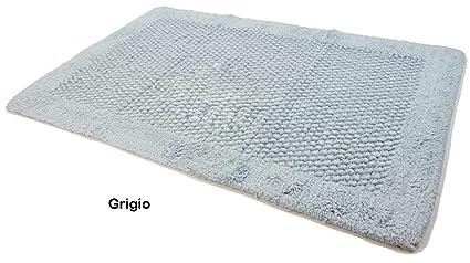 Casa tessile tappeto bagno antiscivolo pois grigio cm