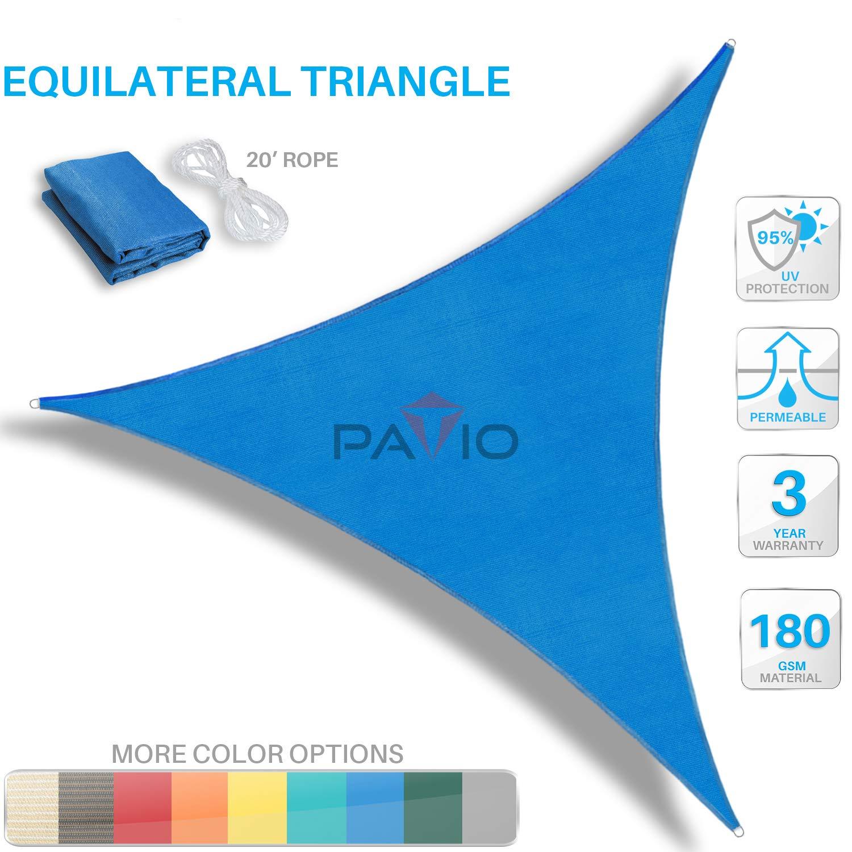 Patio Paradise 3 x 5 FT Blue Sun Shade Sail Rectangle Canopy Customized Available Permeable UV Block Fabric Durable Outdoor
