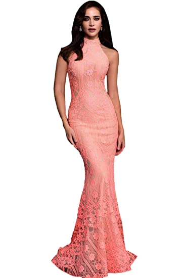 Jovani Prom 2018 Dress Evening Gown Authentic 57400 Long Coralnude