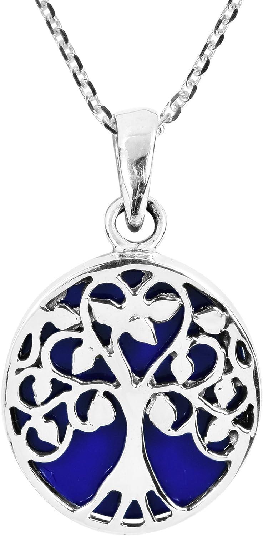 AeraVida Ankh Hieroglyph Eternal Life Simulated Blue Lapis-Lazuli .925 Sterling Silver Pendant Necklace