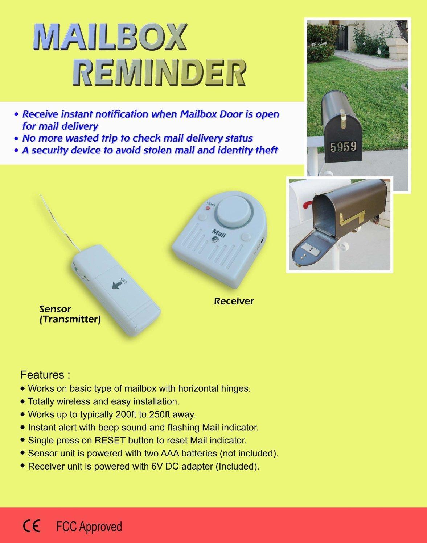 Mail Reminder Notification Alert Wireless Mail Alert System