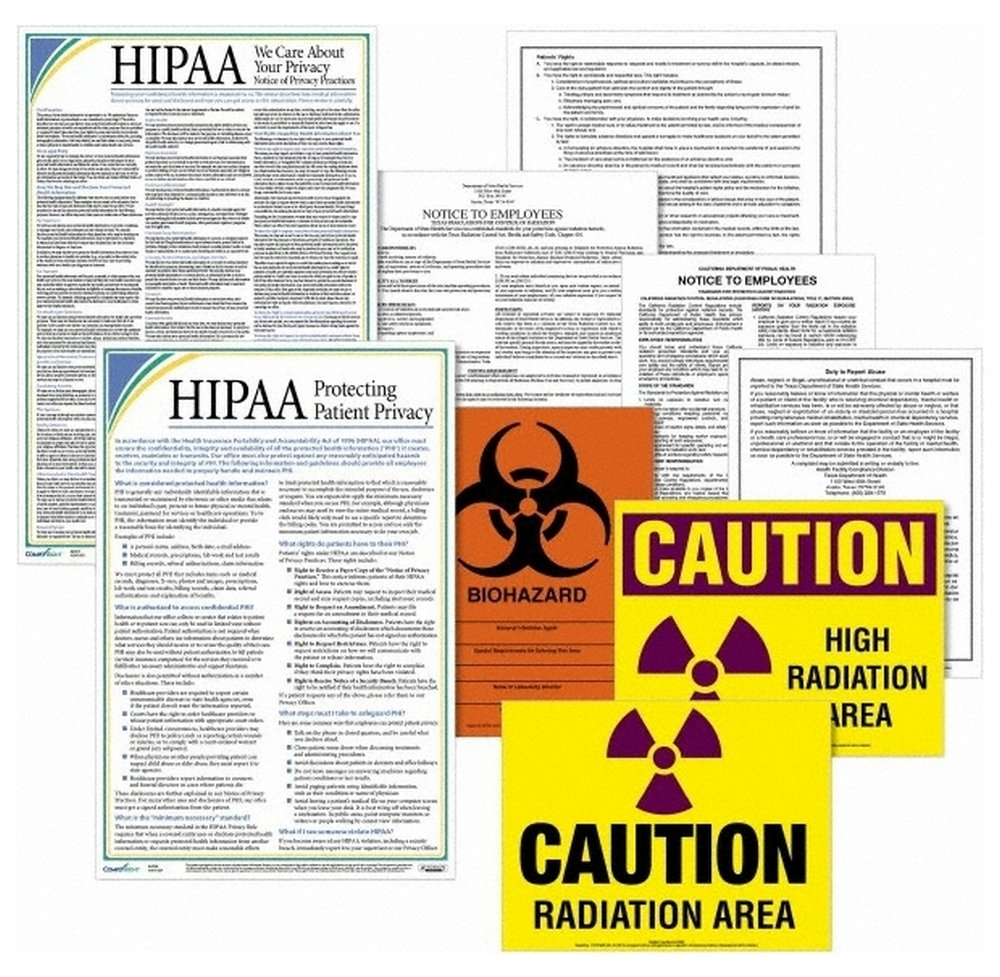 EHNHU, Training & Safety Awareness Posters Subject: Labor Law Training Program Title: Healthcare Labor Law Poster Kit - New Hampshire (12 Piece Set)