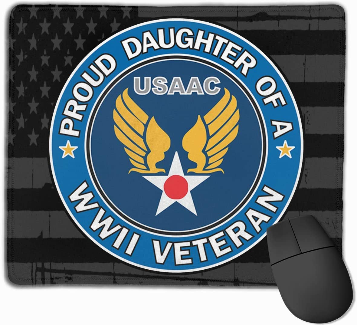 US Army Air Corps Proud Daughter WW2 Veteran Mouse Pads Non-Slip Gaming Mouse Pad Mousepad