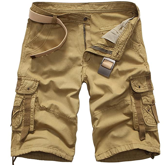 Yying Pantalones Cortos de Camuflaje de Carga para Hombres Pantalones Cortos  de Verano de Carga Pantalones Cortos de Hip Hop de Camo Multi Bolsillos ... 72bf8580c80