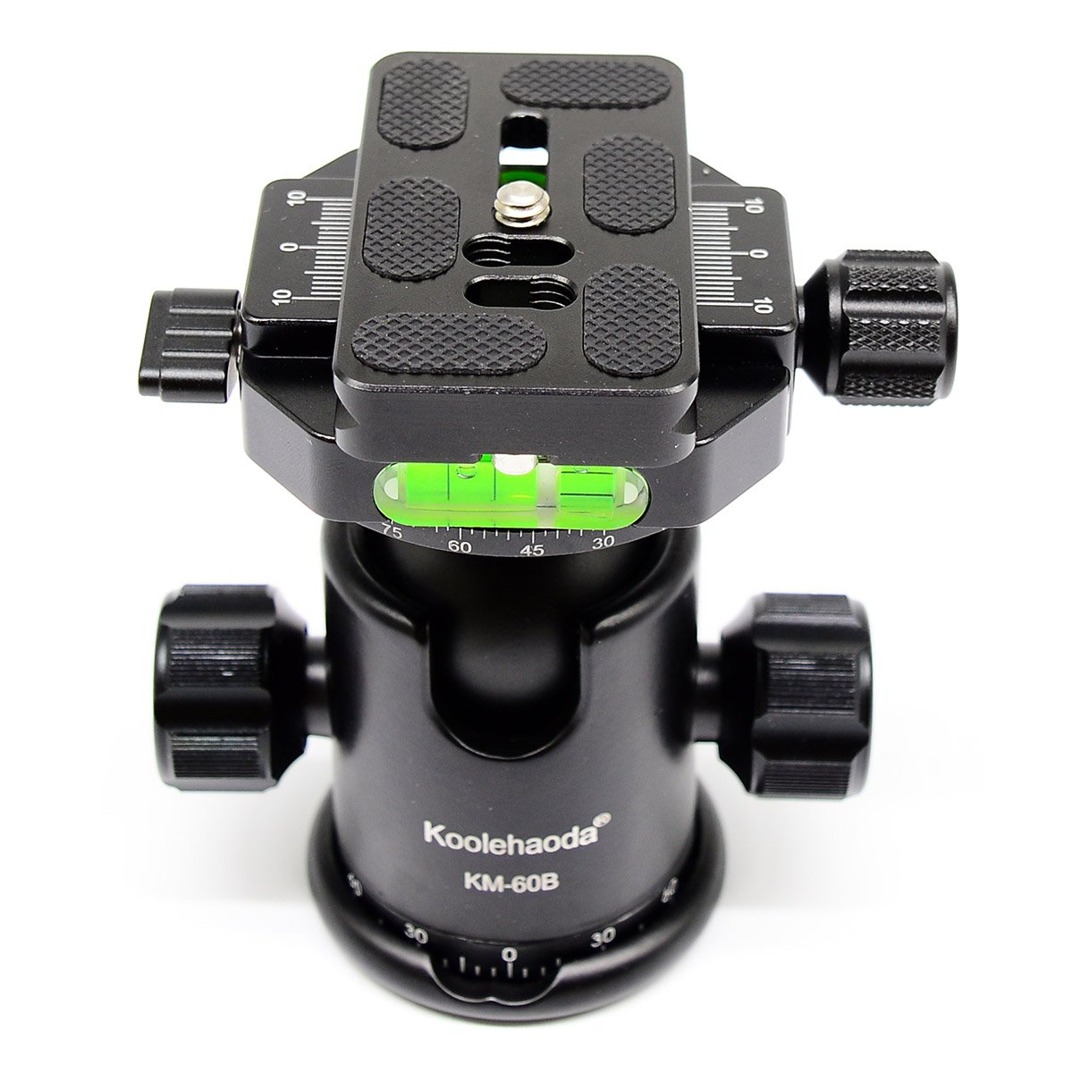 koolehaoda professional Ball Head double Panoramic Head with Quick Release Plate For Camera Tripod,Maximum load: 15KG (KM-60B Panoramic Head)
