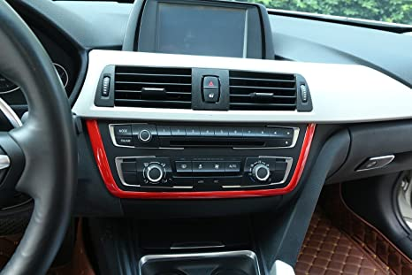 For Bmw 3 Series F30 316 318 320 2013 2017 Interior Abs Center Central Panel Frame Cover Trim Red