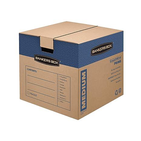 Amazon.com: Bankers Box SmoothMove Prime Cajas para mudanza ...