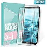 SGIN Verre Trempé Galaxy S9 Plus, [Lot de 2] 3D Touch Film en Verre Trempé, Dureté 9H, Facile à Installer, SANS BULLES D'AIR, Ultra Résistant, Anti Rayures Protection Ecran Pour Samsung Galaxy S9 Plus - Transparent