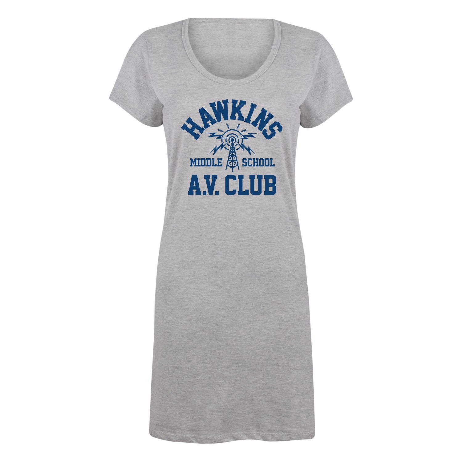 Instant Message Hawkins Middle School Av Club-Ladies Sleep Shirt Nightgown Air Waves