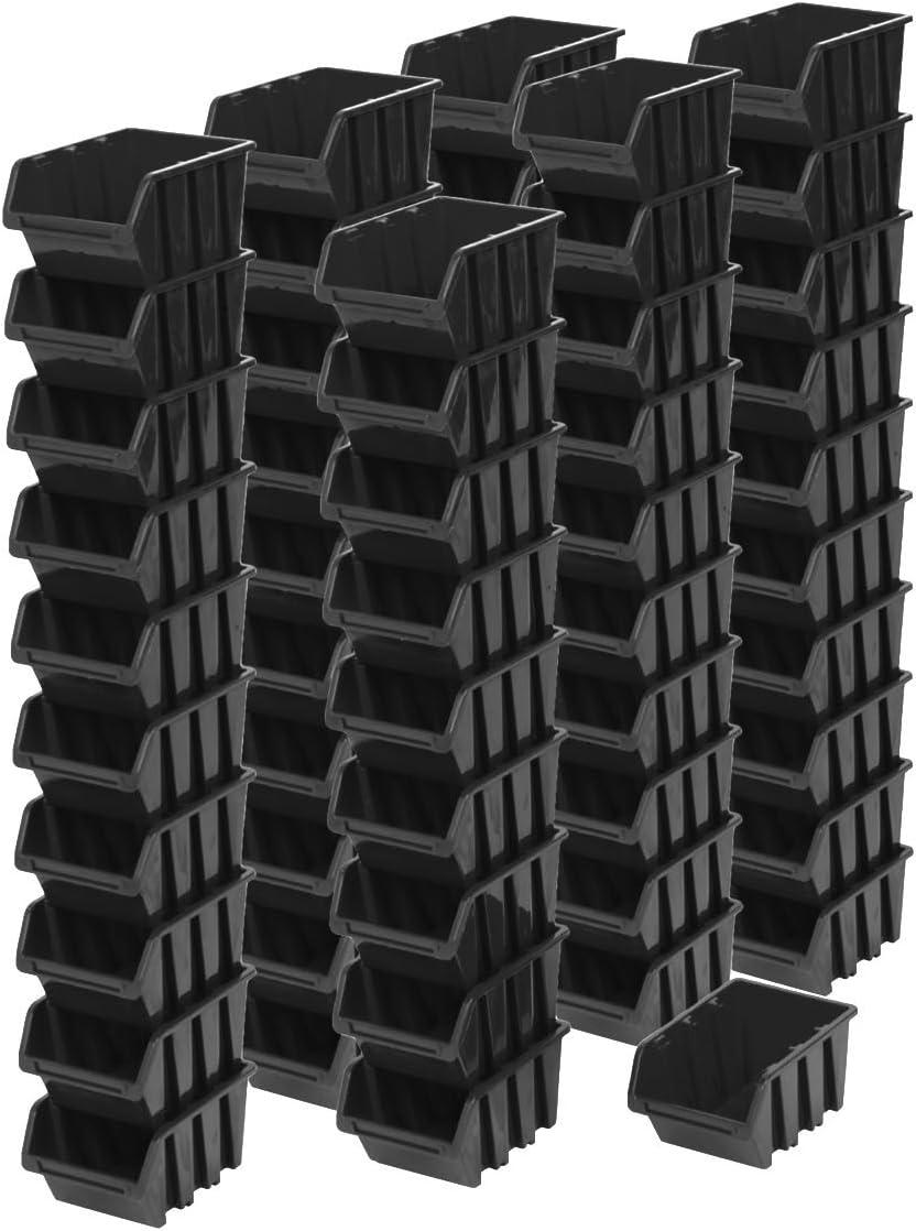 60pieza apilable Caja Estantería Caja clasificador Visión Almacenamiento Caja en de 0,6litros. Almacenamiento Caja 15,5X10X 7cm