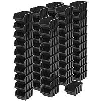 60pieza apilable Caja Estantería Caja clasificador Visión Almacenamiento