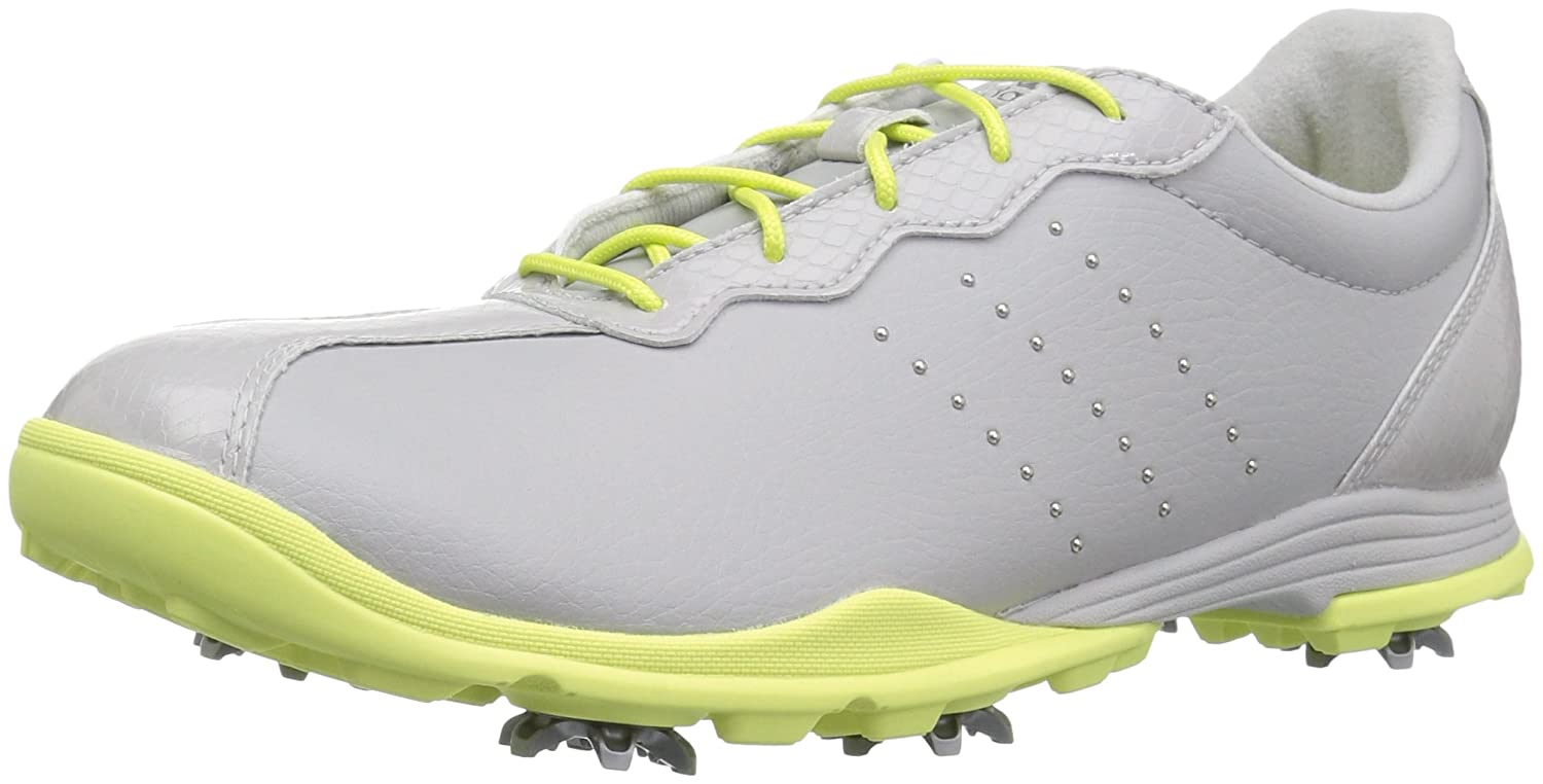 adidas Women's W Adipure DC Golf Shoe B072C4TJXT 8 B(M) US|Grey One/Silver Met./Semi Frozen Yellow