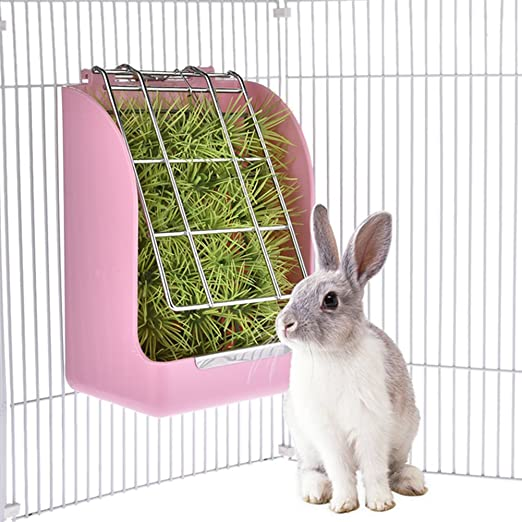 LanLan Alimentador de Hierba para Conejo, Cesta de Hierba para ...