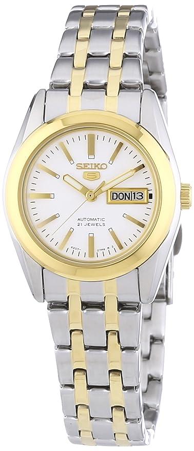 Seiko Reloj Analógico Automático para Mujer con Correa de Acero Inoxidable - SYMH88K1: Amazon.es: Relojes