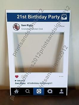 Marco personalizable con aspecto de ventana de Instagram para fiestas, A1: Amazon.es: Hogar