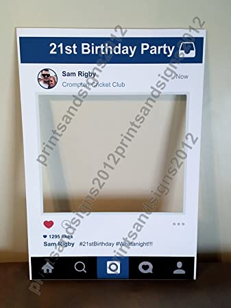 Personalised Instaframe Social Media Party Selfie Photo Frame Party