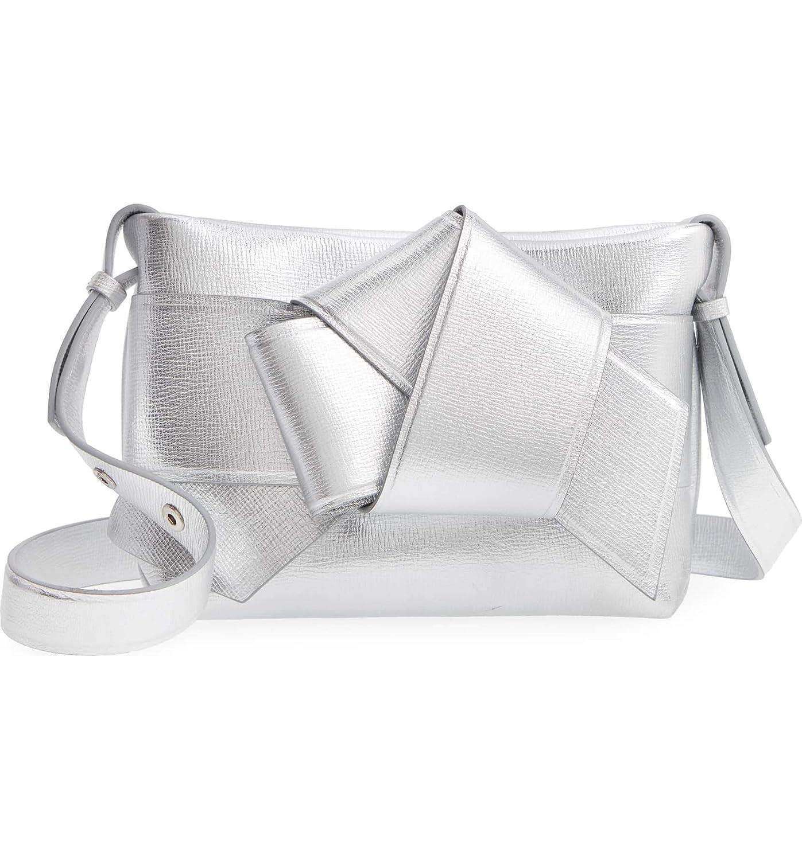 (アクネ ストゥディオズ) ACNE STUDIOS Women`s Musubi Knot Leather Handbag 2Color 革のハンドバッグクロスバッグ (並行輸入品) B07PWG97PQ シルバー One Size